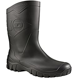 Dunlop Protective Dunlop Dee, Botas de Goma de Trabajo Unisex Adulto, Negro (Black 002), 43 EU