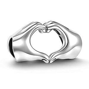 GW 925 Sterling Silber Charm Herz passt für Pandora Armband Geschenk für Familie