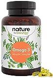 Omega 3 Fischöl 1000mg Kapseln - 500mg EPA und 250mg DHA für Herz- und Hirnfunktion* - Essentielle Omega-3 Fettsäueren - Anchovis aus nachhaltigem Fischfang - Laborgeprüft hergestellt in Deutschland