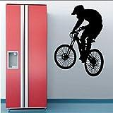 Chellonm Wand Vinyl Aufkleber Für Schlafzimmer Dekoration Abnehmbare Moderne Aufkleber Zyklus Bmx Fahrrad Kreative Wandbild Für Heimtextilien 56 * 120 Cm