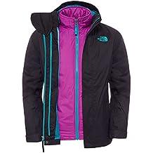 The North Face G Kira Triclimate Jacket - Chaqueta para niña, Color Negro/Fucsia