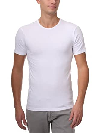 Dim Dry & Cool - Pack de 2 - T-Shirts col rond - Homme - Blanc - FR : Large (Taille fabricant : 4)