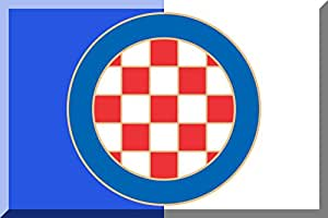 magFlags Flagge: Large HNK Hajduk Split | Querformat Fahne | 1.35m² | 90x150cm » Fahne 100% Made in Germany