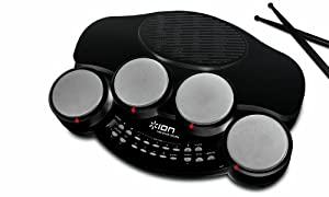 ION Audio Discover Drums USB Electronic Drum Kit with Virtual Teacher - Black