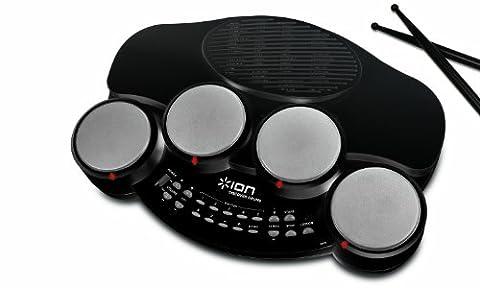 ION Audio Discover Drums Kit de Batterie électronique 4 pads avec Mode d'Apprentissage + Logiciel PC et MAC