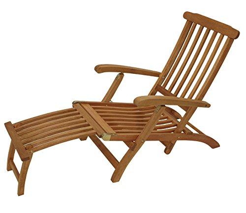 gartenmoebel-einkauf Deckchair Maine mit Fussteil aus Eukalyptus Hartholz, FSC®-zertifiziert