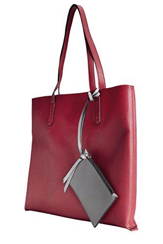 next Donna Borsa Shopper Double Face Rosso/Grigio