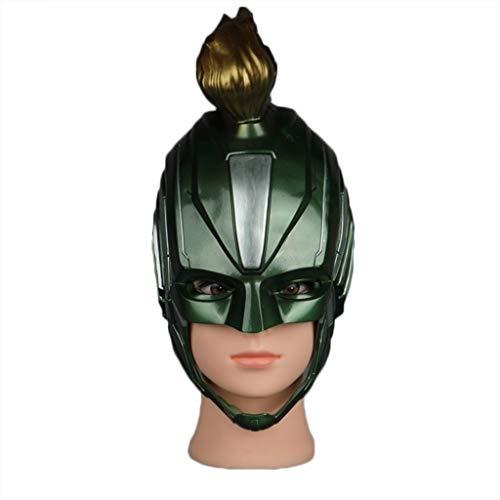 GanSouy Rächer: Endspiel, Kapitän Marvel Maske, Erwachsene Frauen Kapitän Marvel Helm Cosplay Held Dame Kostüm,Green-OneSize