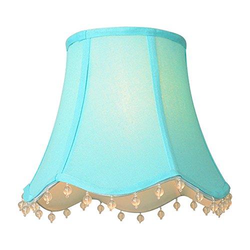 DULEE Handmade Restro Palace Princess Style Tischleuchten Lampenschirm Nachttisch Licht Lampenschirme Wandleuchte Kristall Kronleuchter Lampenschirme, 10 * 17 * 14cm Blau (Kronleuchter Blau)