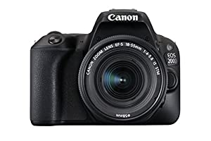 Canon EOS 200D Digital SLR Camera with EF-S 18 - 55 mm f/4-5.6 IS STM Lens - Black