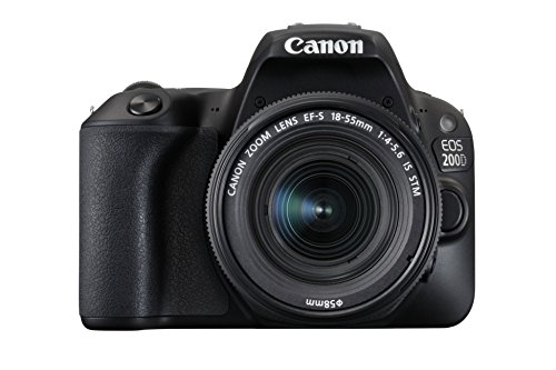 Canon EOS 200D Digital SLR Camera with EF-S 18-55 mm f/4-5.6 IS STM Lens - Black