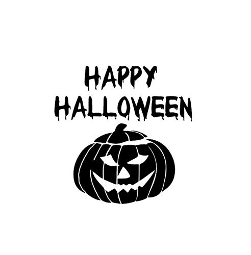 Autoaufkleber 12,8 * 12,8 Halloween Happy Kürbis Horror Vinyl Decor Auto Aufkleber Silhouette Grafik 2 Stück (Halloween Kürbis Silhouetten)