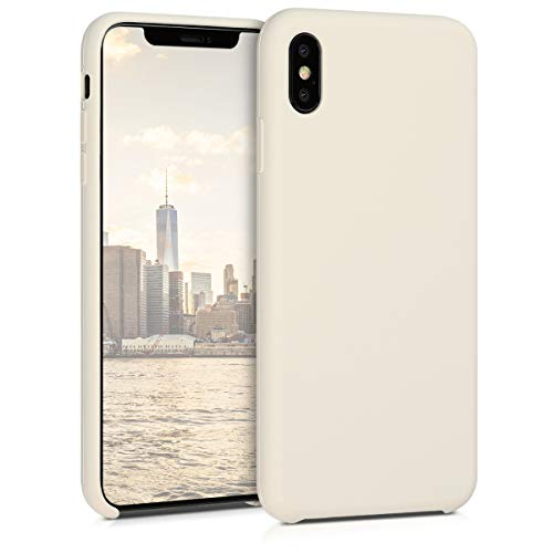 kwmobile Apple iPhone XS Max Hülle - Handyhülle für Apple iPhone XS Max - Handy Case in Creme