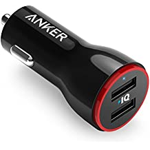 Anker PowerDrive 2 Auto Ladegerät 24W / 4.8A 2-Port USB Kfz Ladegerät Power IQ für iPhone 7 / 7 Plus / 6s / 6s Plus / iPad Pro / Andriod / Galaxy S7 / S7 Edge / S6 Edge / Nexus 5X / 6P , Tablets, Bluetooth Geräten, Powerbank und mehr