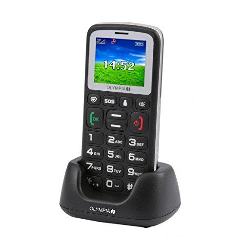 Handys Für ältere Menschen (SENIORENHANDY OLYMPIA BRAVO Colour mit GROSSEN TASTEN mit Ladestation)