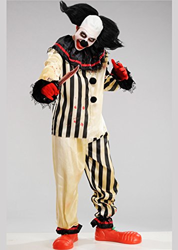 Erwachsene Halloween Freakshow Gothic Clown (Freak Kostüm Show)