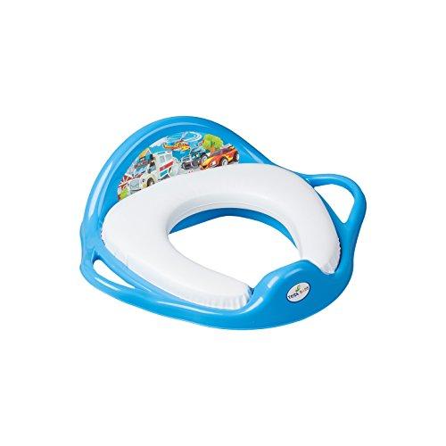 Réducteur de toilette anti-dérapant avec assise rembourrée ultra-confortable Tega Baby thème voiture cars couleur bleu Tega Baby