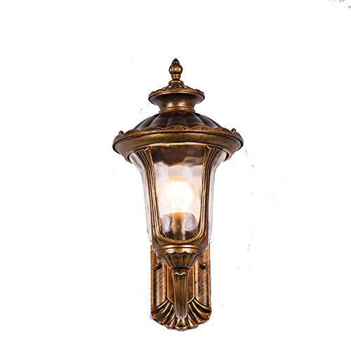 WSR Wasserdichte Wandlampe Der Europäischen Im Freien Amerikanische Retro- Gartenlampe Balkonwohnzimmergangflurgartenwandlampe,Als Zeigen,25 * 18 * 36 cm