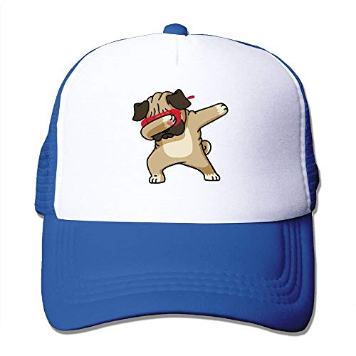 Pug Hip Hop Mesh Trucker Caps/Hats Adjustable for Unisex Black -