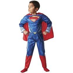 "Rubie`s - Disfraz infantil de Superman Musculoso ""Man Of Steel"" en caja (888342-L)"