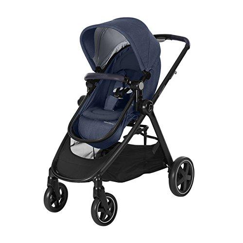Bébé Confort Zelia - Cochecito urbano 2 en 1, diseño compacto, sistema plegable, para bebes de 0 meses hasta 3,5 años, color azul