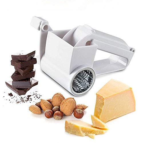 SSFDGNPSQ 1 Stücke/Kunststoff Hand Trommel käsereibe Rotary ingwer Slicer reibe Cutter schokoladenhobel gemüsereibe