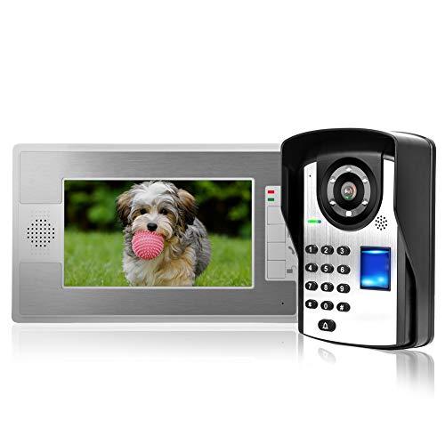 Videoportero 7 Pulgadas TFT Video Intercomunicador Timbre Sistema con Desbloqueo de contraseña...