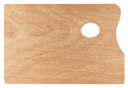 Solo Goya Wooden Palette Beech Wood Triple Glued Surface Varnished Universal for Oil and Acrylic Painting 5 mm Thick Rectangular 20 x 30 cm