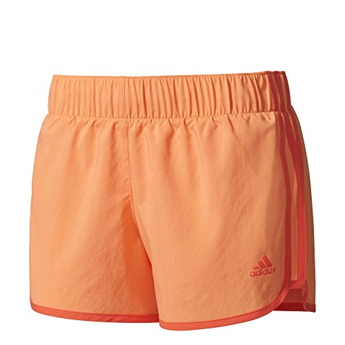 Running Coral Shorts (adidas Damen M10 Woven Shorts, Easy Orange/Easy Coral, M/3 Zoll)