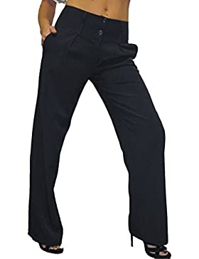 (1272) gamba larga Intelligente Giorno o Office Pantaloni Blu Navy