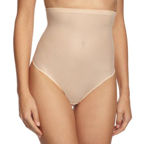 Magic Bodyfashion Damen Hi-Waist Thong Miederrock, Beige (Latte 1373), 34 (Herstellergröße: Small) - Beige Thong