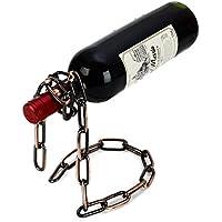 home-organizer Tech catena porta in vetro porta bottiglia di vino forma galleggiante Illusion Rack stand