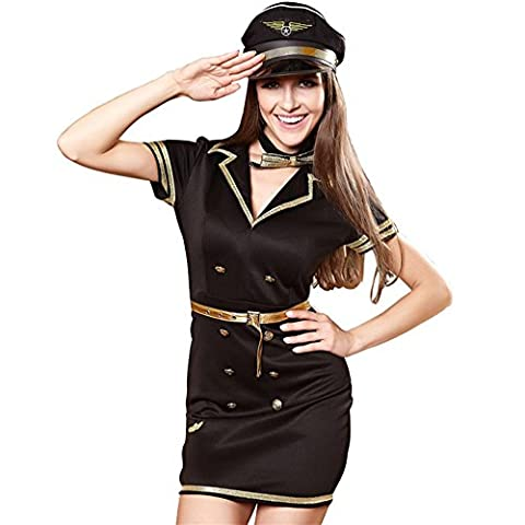 Women Sexy Lingerie Sets Halloween Cosplay Hollow Party Nightclub Police jeu Uniforme dans la tentation , black , m