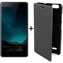 """Telefono Movil Smartphone Elephone C1 Mini Negro / 5"""" / 16Gb Rom / 1Gb Ram / 5 Mpx-2Mpx / Quad Core / Lector De Huella / 4G / Cuerpo Metalico."""