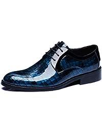 GRRONG Hombres Zapatos De Moda Zapatos Derby De Negocios Sala De Viento Zapatos De Boda Británicos