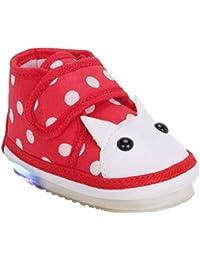 CHIU Kids LED Light Shoes with Chu Chu Music Sound & Polka Print for Baby Girl and Baby Boys (Age Group - 9-12 Months, 12-15 Months, 15-18 Months, 18-24 Months)