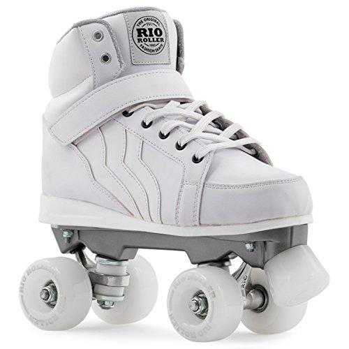 Rio Roller Kicks Quads Rollschuhe Disco Roller weiß white, 42