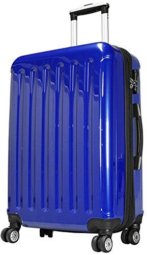 Hartschalen Reisekoffer Set 3 teilig 'Frankfurt' Topseller Blau (91Liter)