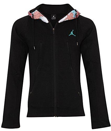 Varsity Hoody Sweatshirt (Nike Jordan CNY Varsity Hoody Sweatshirt Linie Michael Jordan für Herren M Schwarz/Grün)