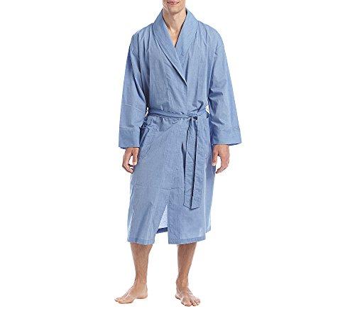 Hanes Herren-robe (Herren Big Woven Schalkragen Robe, schwarz, 3X-Large / 4X-Large)