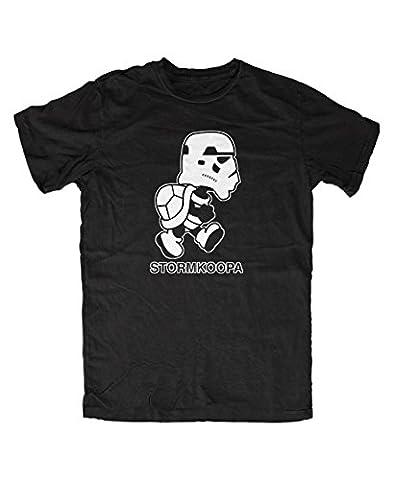 Stormkoopa Mario T-Shirt (XL, Schwarz)