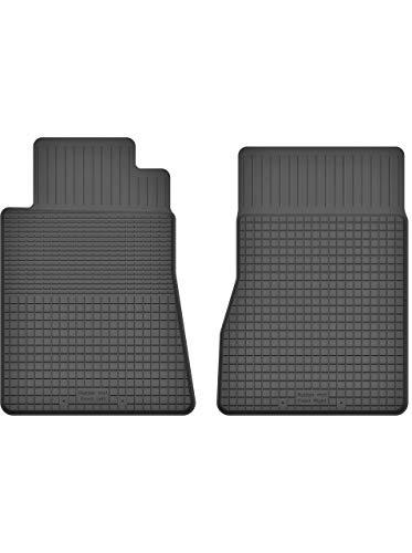 Premium Gummifußmatten mit 15mm Rand - Automatten Fußmatten geeignet für Mercedes SL-Klasse R230 | X292-Y-19 Vorne (R230 Fußmatten Mercedes)