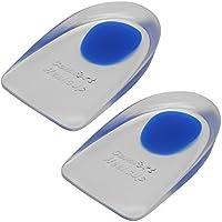 TrendBox Silikonmassager-weiche elastische Gel-Ferse Fügt Vorlagen Schmerzlinderung Blau Fußpflege preisvergleich bei billige-tabletten.eu