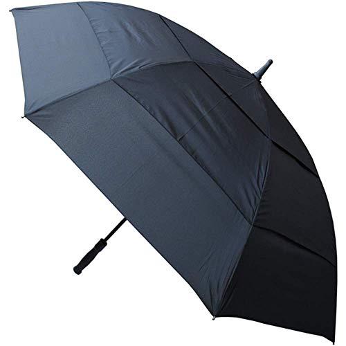 Collar and cuffs london - 152 cm arco - antiventoextra robusto -ventilato tripla calotta - struttura rinforzata con fibra di vetro - ombrello classico da golf xl - automatico - grande- nero