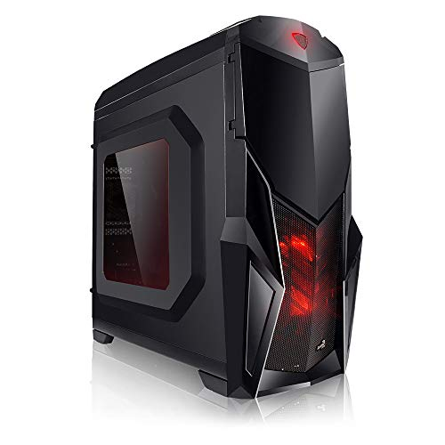 Megaport Unité Centrale pc Gamer 4-Core AMD A8-9600 4X 3,10 GHz • 8 Go DDR4 • 1 to • Windows 10 • USB3.0 • Ordinateur de Bureau • pc Gaming • Ordinateur Gamer