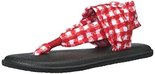 Sanuk sandal wmn yoga sling noir/imprimés 2 natural congo Red/White Gingham
