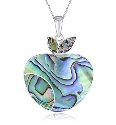 Bijou pendentif-femme-Création fait main-Nacre abalone et Argent
