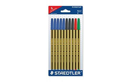 Staedtler Blister con 10 penne a sfera noris colori assortiti