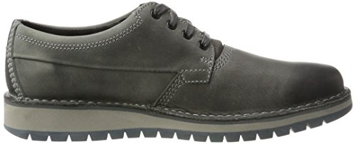 Clarks Varby Stride, Chaussures Pour Hommes Grey (dark Grey Lea)