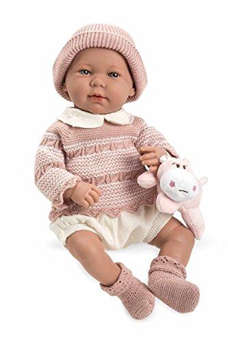 Muñecas Arias- Muñeco Real Baby Elegance, (65184)